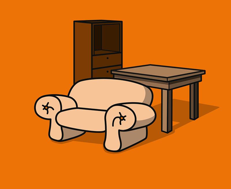 Schreibtisch - Nussbaumoptik